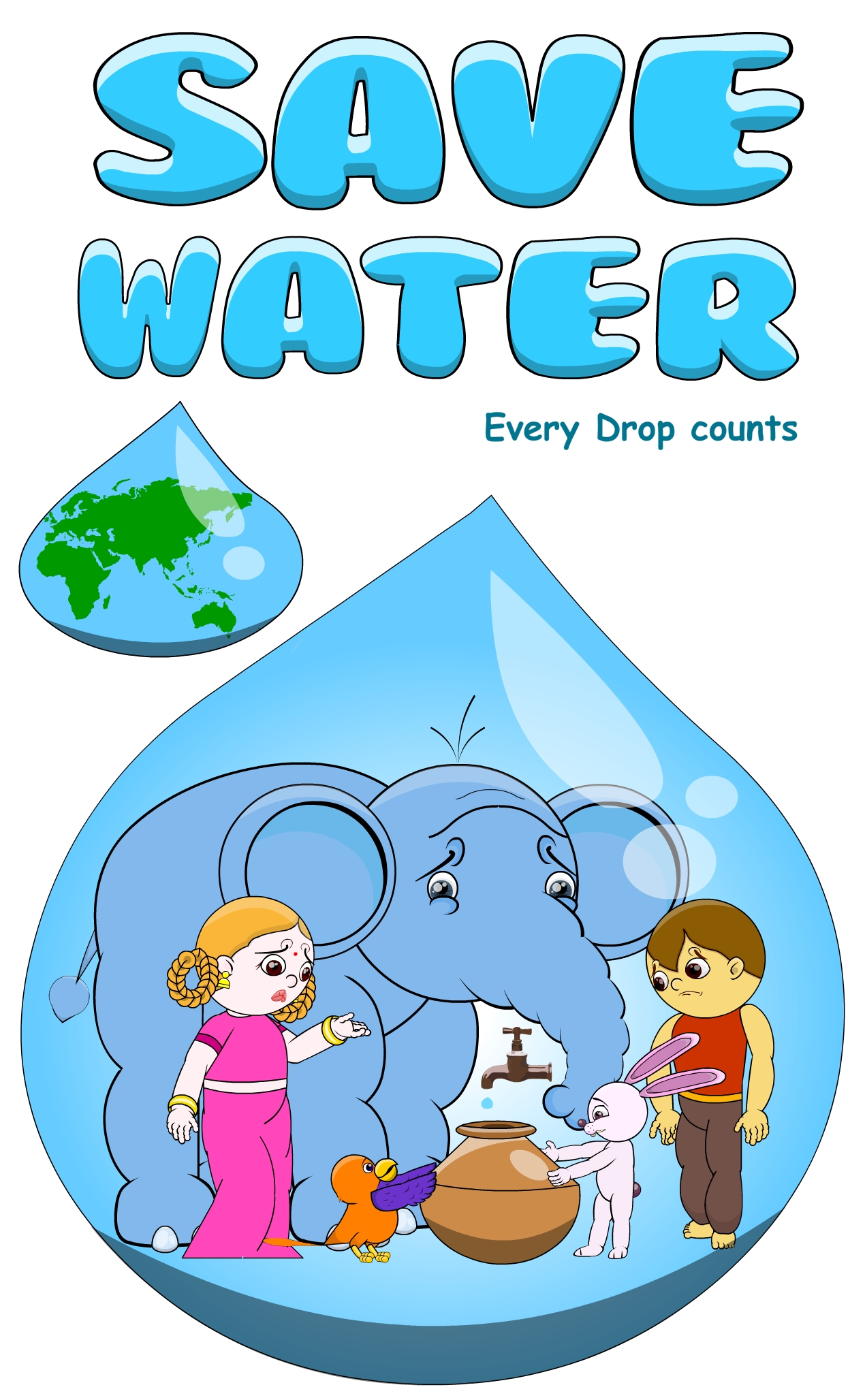 save water save life in 150 words Water is needed by all terrestrial life forms to drink  all life forms and vegetation  will perish if there is no water  paragraph on save water 2 (150 words.